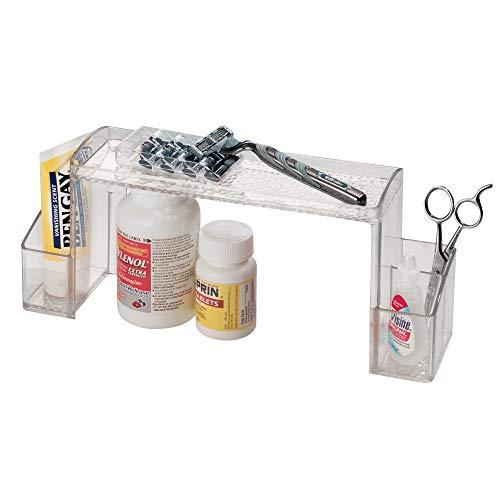 InterDesign Med+ Hochbau Tabletten Organizer, Sortierkasten aus Kunststoff mit Griffen, durchsichtig -