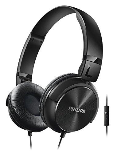 Philips shl3065bk cuffie con microfono e comandi di chiamata, pieghevole, 1,2 m, nero
