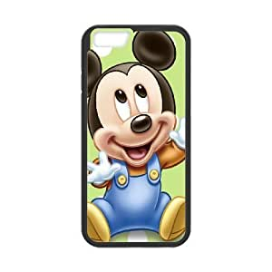 Plastic Unique Cell Phone Case iPhone 6 4.7 Inch Black Cell Phone Case Of Mickey and Minnie XUJBEG02064