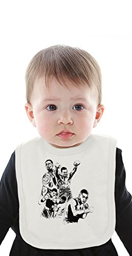 Felix Trinidad Illustration Organic Baby Bib With Ties Medium -