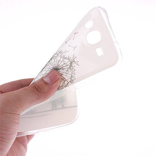 Samsung Galaxy Mega 5.8 GT-I9150 hülle MCHSHOP Ultra Slim Skin Gel TPU hülle weiche weiche Silicone Silikon Schutzhülle Case für Samsung Galaxy Mega 5.8 GT-I9150 / GT-I9152 - 1 Kostenlose Stylus (Löwe Löwenzahn sich verlieben (Dandelions Fall in Love)