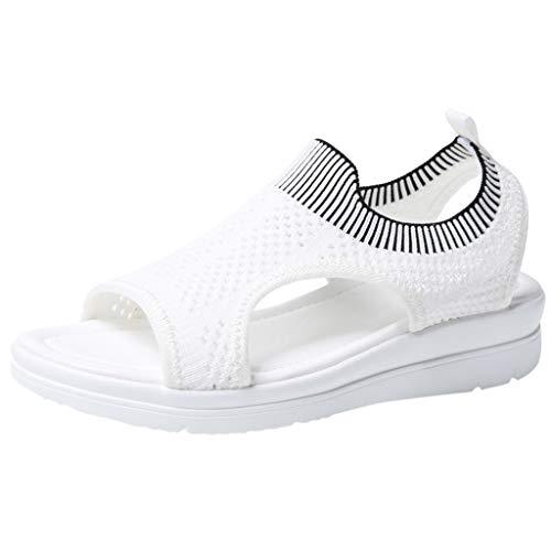 Lenfesh Damen Pantolette Arbeitsschuhe Medizinische Schuhe