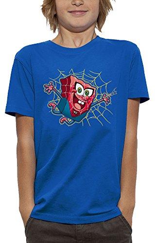 T-shirt 3D SPIDER BOB L'EPONGE en Réalité Augmentée - PIXEL EVOLUTION - Enfant - taille 7/8 ans - Bleu Royal