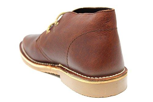 Uomo Marrone Occhielli Originali Roamers 2 Desert Pelle Classico Boots Veri In x6nxpg