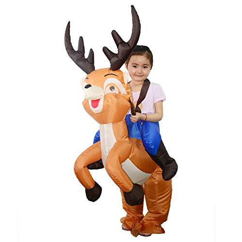 artoon Elch Kinder Aufblasbare Kleidung Weihnachten Halloween Party Spielzeug Kostüm Bühne Leistung Kostüm Maskerade Requisiten ()