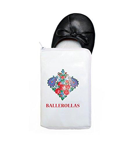 Faltbare Ballerinas (Faltbare Ballerinas BALLEROLLAS - Afterparty Schuhe - Wechselschuhe, schwarz Gr. 41-42)