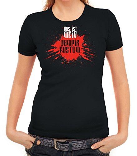 Fasching Karneval Damen T-Shirt mit Das ist mein Vampir Kostüm 2 Motiv von  ShirtStreet