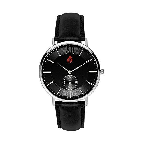 Bracelet Homme–Horloge de Bling de Berlin–élégante montre de quartz avec bracelet en cuir de–Kreuzberg Edition