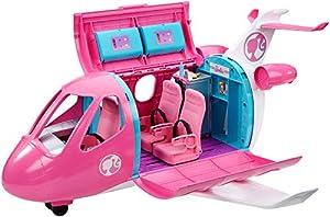 Barbie - Avión de tus Sueños, Avión de Juguete con Accesorios para Muñecas (Mattel GDG76)