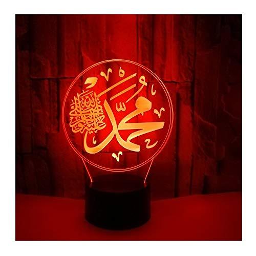 (Stimmungslichter 3D Religiöse Bunte Ub Touch Fernbedienung Schalter Beleuchtung Phantom Tischlampe Dekoration Tag Weihnachtsgeschenk Umweltschutz Tischlampe Touch Schalter)