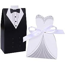 SUMERSHA Candy Box dolci in forma Tuxedo coda cod cerimonia per, la sposa regalo 100pcs