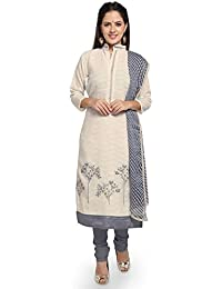 Rajnandini Women's Cotton Unstitched Dress Material (JOPLMF00034_Off White_Free Size)
