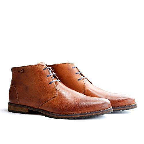 Travelin' Liverpool Leder Chukka Boots - Business Schuhe mit Schnürsenkel - Cognac EU 50
