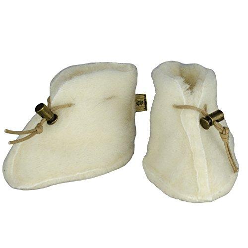 SamWo, Babyschuhe 100% natürliche Schafwolle mit Schnellverschluss BS M nat -