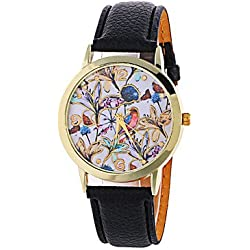 Beautiful Watches , Women's Fashion Analog Flower Ladies' Christmas Display Strap Bohemia Quartz Wrist Watch