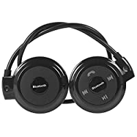 lansiZD Bluetooth Earphones Wireless Bluetooth Stereo Sound Earphone MP3 Player Sports Headphones with Mic - Black