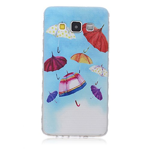 SainCat Coque Housse pour Samsung Galaxy A3(2015),Transparent Coque Silicone Etui Housse, Galaxy A3 Silicone Case Soft Gel Cover Anti-Scratch Transparent Case TPU Cover,Fonction Support Protection Com parapluie