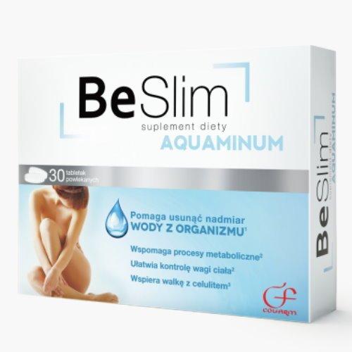 BE SLIM AQUAMINUM | 30 Tabletten | HOCHDOSIERT | VEGAN | Apotheken-Qualität | Zur Unterstützung von Stoffwechselprozessen | Hilft gegen | Entwässernde Eigenschaften Dank Brennesel-Extrakt | Unterstützt Gewichtsreduktion und Fettreduktion