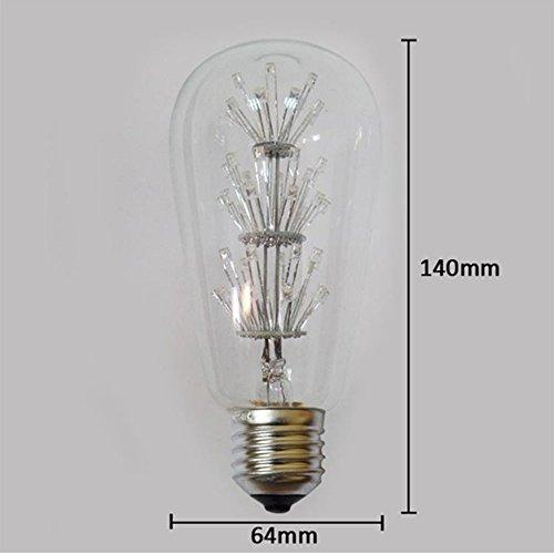4 Packung Vintage Beleuchtung, VSOAIR LED-Birnen mit 3W ST64 Weinlese-Edison-Feuerwerk-dimmable Birnen-Beleuchtung-warmem Weiß 2200K - 5