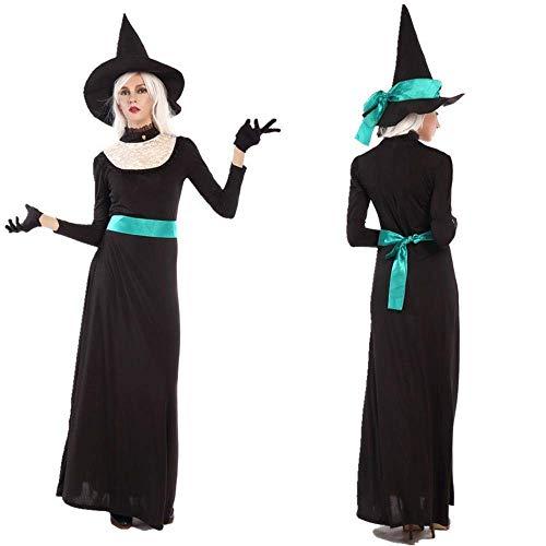 Fashion-Cos1 Halloween Damen Vampir Kostüme Teufel Leiche Braut Schwarz Böse Hexe Königin Cosplay Kleidung Maskerade Party Erwachsene Kostüm (Size : XL)