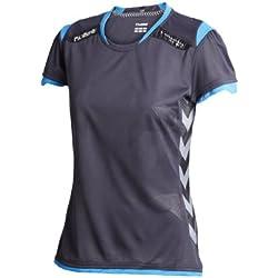 Hummel Trikot - Camiseta para mujer, tamaño XS, color nine iron / brilliant azul