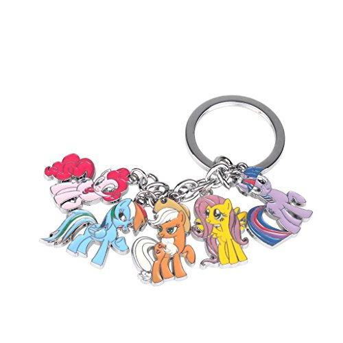 Price comparison product image Mini Lovely Pony Metal Keychain Keyring Pendant 1 Inch