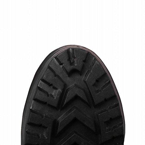 Mee Shoes Damen chunky heels runde Knöchelriemchen Pumps Schwarz