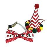 MCdream - Disfraz de Navidad para Mascotas, Disfraz de Mascota, colección de Navidad, Ideal para Gatos y Perros, decoración navideña, Cono de Mascota, Pajarita, Sombreros de Navidad, Disfraz de Perro
