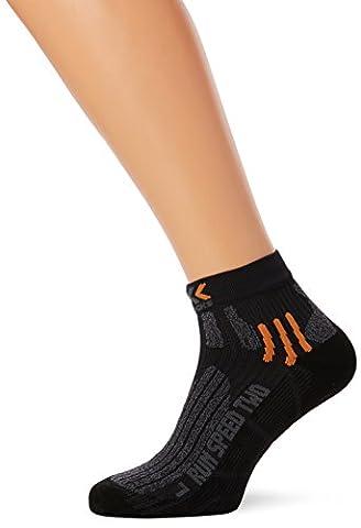 X-Socks Erwachsene Funktionssocken Run Speed Two, Black/Grey Moulinè, 39/41,