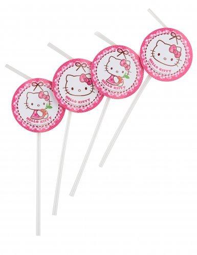 Hello Kitty PR89442 Trinkhalme, bunt, 6 (Meine Kitty Kostüm)