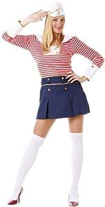 Hilka Cesar B373-002 - Disfraz de marinera para mujer, talla 36/38