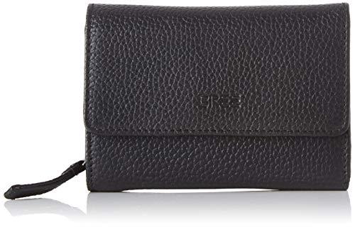 BREE Collection Damen Liv New 108, Black, Zipped Combi. Purse Geldbörse, Schwarz, 3x9.5x13 cm