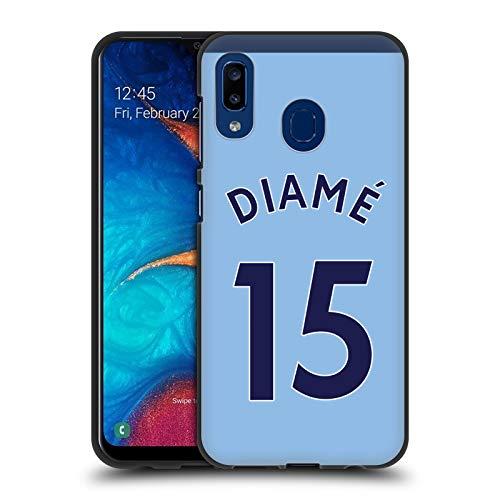 Head Case Designs Offizielle Newcastle United FC NUFC Mohamed Diamé 2017/18 Spieler Away Kit Gruppe 2 Schwarze Soft Gel Huelle kompatibel mit Samsung Galaxy A20 / A30 (2019) -