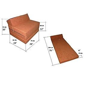 Natalia Spzoo El sillón de colchón Plegable para Invitados con Forma de sillón sofá Cama Plegable con colchón de la Cama, Schwarz -0001, 200cm Lang