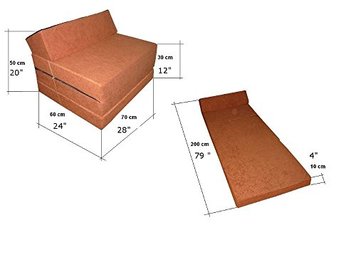 Natalia Spzoo El sillón de colchón Plegable para Invitados con Forma de sillón sofá Cama Plegable con colchón de la Cama, Pink-1227