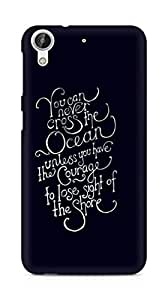 AMEZ you can never cross the Ocean Back Cover For HTC Desire 626 G