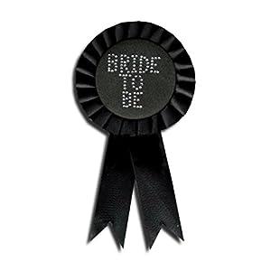 Black Bride To Be Diamante Rosette (accesorio de disfraz)