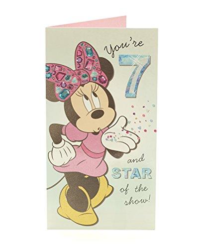 sney Minnie Maus 7. Geburtstag Karte ()