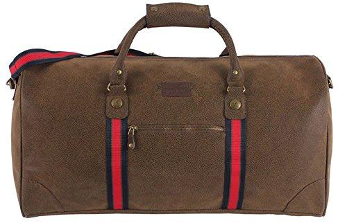 Unisex Tasche mit 2 Tragegriffen, mit Reißverschluss, Antik-Optik, Reisetasche, 57x 27x 29cm Braun