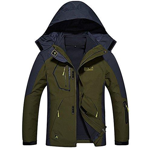 7756713b7cdf74 GITVIENAR 3 in 1 Outdoor Jacken Herren Softshell Jacken Skifahren  Bergsteigen Kleidung warm winddichte Kleidung großen