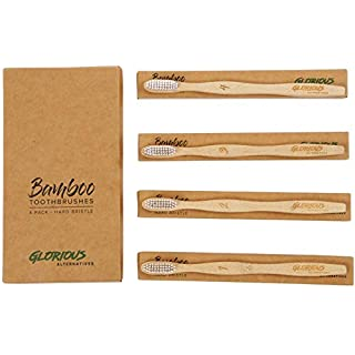 Glorious Alternatives - Eco-Friendly Bamboo Toothbrushes - 4 Pack - 1 Brush Donated For Every Pack Sold!