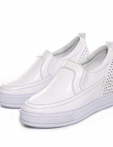 Chaussures Femme Shangyi Gyht - Mocassins - Bureau Et Travail / Casual - Compensées - Compensées - Cuir - Noir / Vert / Blanc Blanc