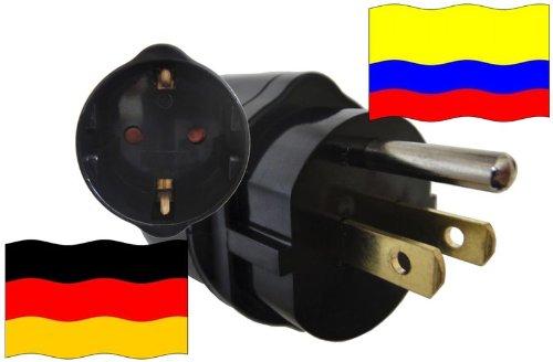 Preisvergleich Produktbild Reise-Adapter KOLUMBIEN auf Deutschland CO - GER Travel Plug KOLUMBIEN-Reise (Schutzkontakt, 2200Watt)