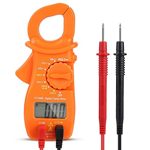 Outbit Multimeter - Multifunktions-Handheld-LED-Anzeige Digital Clamp Meter Multimeter Spannungs- / Stromprüfgerät
