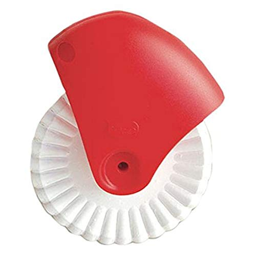 Rowentauk Pastry Wheel Decorator and Cutter Beautiful Pie Crust Cookie Stamps for Kitchen Bakeware Fluted Pastry Cutter