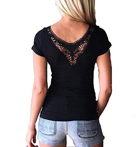 Damen Sexy T-Shirt Tops Bluse Oberteil Mit