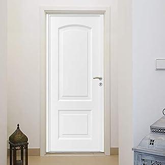 murimage Papel Pintado Hoja de la Puerta 86 x 200 cm Pasillo Entrada blanco Efecto 3D Baño Fotomurales Pared incluye pegamento