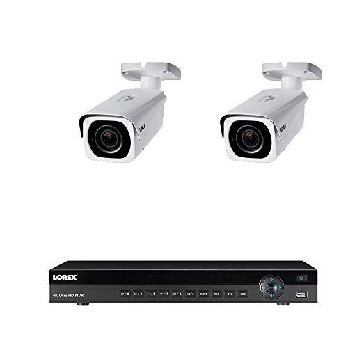 Lorex 8mp 4K Ultra HD Ip Nr900X Series 2 HDD Slot NVR-System mit 4K Lnb8963Bw Ip Minikameras Paket, 4-Fach optischen Zoom, 250ft Night Vision 2 Kameras w / 8 Ch NVR Weiß 250 Night Vision