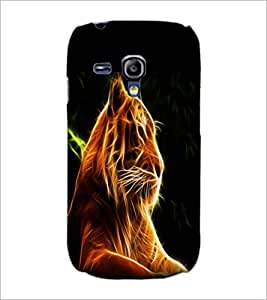 PrintDhaba Digital Lion D-1212 Back Case Cover for SAMSUNG GALAXY S3 MINI (Multi-Coloured)