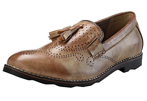 Adreno slip-on faux cuir intelligents de style casual chaussures hommes - choisir la taille Marron